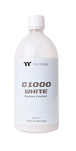 Thermaltake C1000 1000ml Vivid Color Computer Water Cooling System Coolant CL-W114-OS00WT-A, White (Reach Spout)