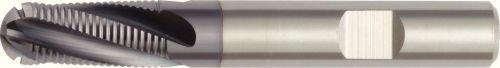 WIDIA Hanita 496616006LW 4966 HP Roughing End Mill Ball Nose 4-Flute RH Cut TiAlN Coating Carbide Weldon Shank 16 mm Cutting Diameter