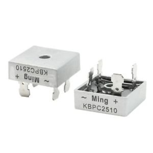2 Pcs Square Silver Tone Head 1000V 25A Full Wave Bridge Rectifier G6Q2