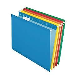 (Pendaflex Reinforced Hanging File Folders, Letter Size, Assorted, 1/5 Cut, 25/BX (4152 1/5 ASST))