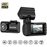 Mini Dash Cam, LESHP Super HD 1296P Car Dashboard Camera (16G Card Included) 1.5 inch LCD Display Driving Video Recorder DVR with G-Sensor, Night Vision, Parking Monitor, Motion Detection, GPS Track
