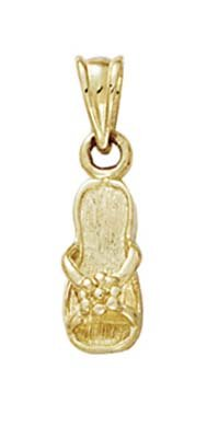Taille 14 Carats Pendentif Fleur JewelryWeb santal