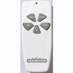 Fanimation C4-220 Remote Control Fan & Light 3-Speed with Receiver 220V - ()