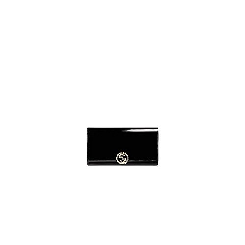 Gg Sparkling Polished Leather Continental Wallet