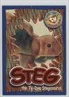 Wild Cards - Steg the Ty-Dye Stegosaurus (Trading Card) 1999 Ty Beanie Babies Series 4 - [Base] - Chase Orange #260