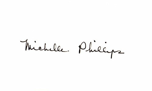 - Michelle Phillips Signed - Autographed 3x5 inch Index Card - The Mamas and the Papas Singer