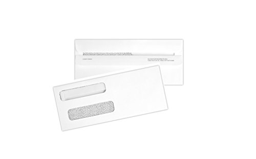 500 Double Window Check Envelopes Self Seal with Security Tint Works with all (Tech Check)