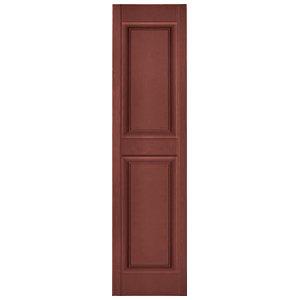 - Builders Edge 12 in. x 35 in. Raised Panel Vinyl Exterior Shutters Pair in #027 Burgundy Red