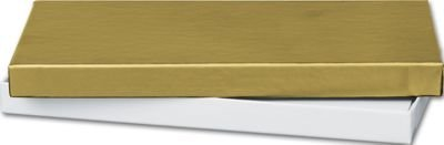 Gold Gift Certificate Boxes, 6 5/8 x 3 1/4 x 5/8'' (100 Boxes) - BOWS-52-060301-15 by Miller Supply Inc