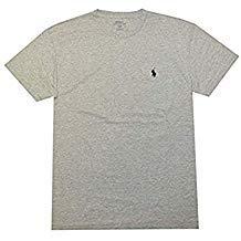 Classic Fit Logo T-shirt - Polo Ralph Lauren Men's Classic Fit Solid Crewneck T-Shirt (Medium, New Grey Heather)