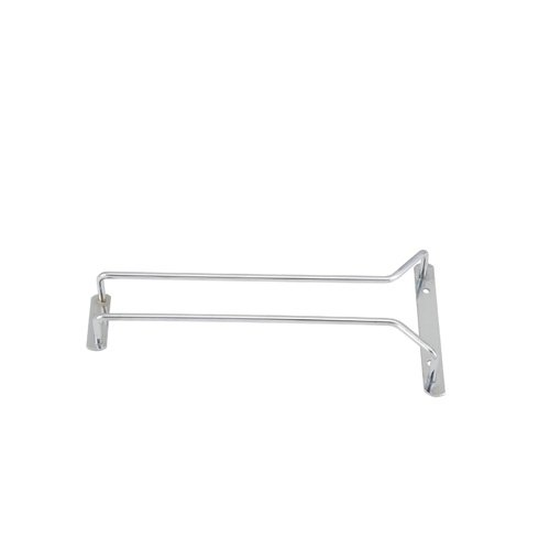 (Winco GHC-10, 10-Inch Chrome Plated Wire Glass Hanger Rack, Single Channel Bar Glass Holder, Stemware Rack )