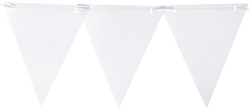 Amscan Paper Pennant Banner, Party Decoration, Frosty White ()