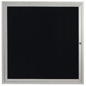 Aarco Products OADC3636I Illuminated Outdoor Enclosed Aluminum Directory Board - Clear Satin Anodized (Directory Outdoor Board)
