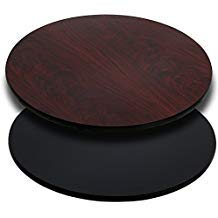 42'' Round Restaurant Table Top Black or Mahogany Reversible Laminate Top