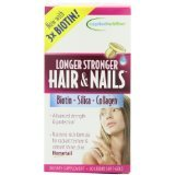 Applied Nutrition Longer, Stronger Hair and Nails, 60-count (Pack 2)