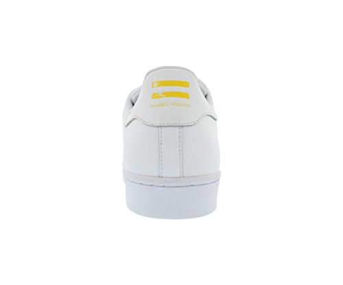 Adidas Heren Superster Pharrell Supersh Ftw Wit / Ftw Wit / Geel / Bloemmotief Enkel-hoge Leren Fashion Sneaker - 13m