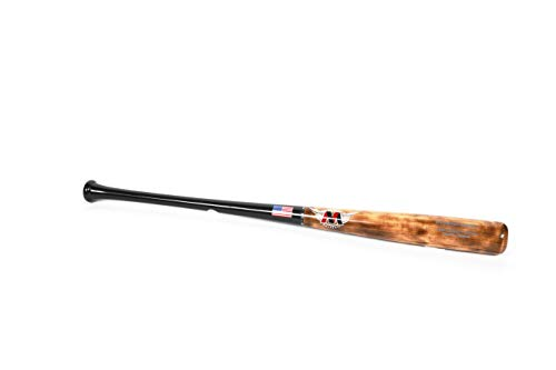 HARD 2 THE CORE Maple Wood Baseball Bat, Big Barrel I-13 Bat, Flamed Barrel / Black Handle, 33