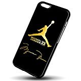 Air Jordan Treasure in gold logo for iPhone 6/6s Black Case