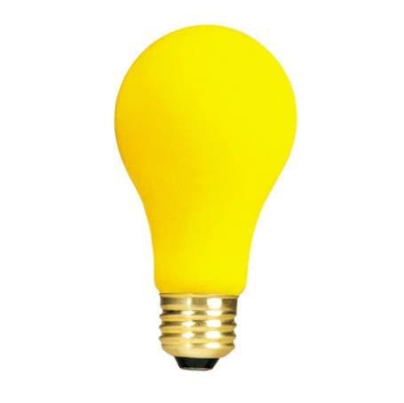 Light Bug Bulb Yellow Repellent (Bulb 25W 25 watt 130V Yellow Bug Repellent Light Bulb A19)