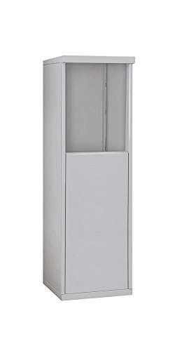 Salsbury Industries 3905S-ALM Free-Standing Enclosure for 3705 Single Column, Aluminum