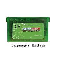 32 Bit Handheld Console Video Game Cartridge Card MegaMan Battle Network 5 Team Protoman English Language EU Version Clear green shell