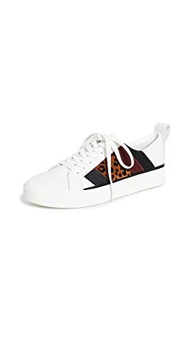 Diane von Furstenberg Women's Tess 16 Sneakers, White/Camel, 5.5 Medium US