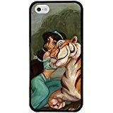 iPhone 5c case, Onelee Customized Disney Cartoon Movie Aladdin Jasmine Tire tread pattern TPU Rubber Black iPhone 5c Case Neverfade Scratchproof Ametabolic (Disney Cell Phone Cases Iphone 5c)