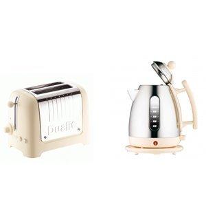 Dualit Cream Kettle & Toaster Set 1 5L Jug Kettle Cream