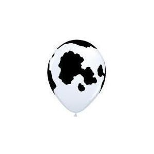 (12) Cow Holstein Black Print Farm Barn Animal Birthday Party 11' Balloon Latex