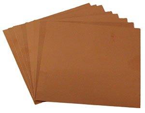 "3"" x 3"" Square 40 Gauge Copper Sheets - 8 Pack"