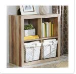 Better Homes and Gardens.. Bookshelf Square Storage Cabinet 4-Cube Organizer (Weathered) from Better Homes and Gardens..