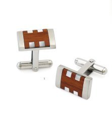 Colibri Stainless Steel Cufflinks (Colibri- Stainless Steel Havana Cufflinks)