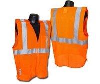 Radians SV4OML Economy Class 2 Breakaway Mesh Safety Vests, Large, Orange