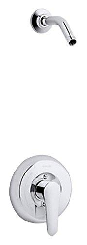 Kohler TLS98009-4-CP K-TLS98009-4-CP July Rite-Temp Shower Valve Trim with Lever Handle, Less showerhead Polished Chrome