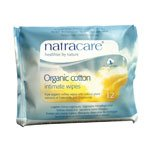 Natracare Organic Feminine Care Products Organic Cotton Intimate Wipes 12 pack (a)