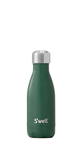 S'well Vacuum Insulated Stainless Steel Water Bottle, Double Wall, 9 oz, Hunting Green