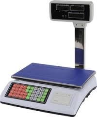 balanza bascula con impresora de ticket y torre hasta 50kg