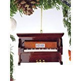 (Broadway Gifts Brown Upright Piano Tree Ornament (1))