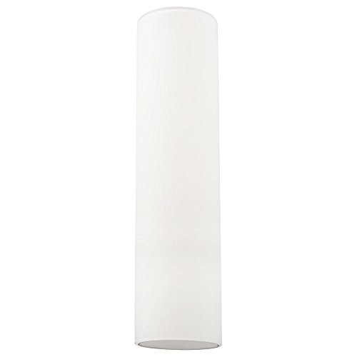 16-Inch Tall Cylinder White Glass Shade with 1-5/8 Fitter
