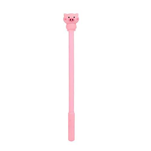 XGao Cartoon Gel Pen with Cute Kawaii Pig Shape Decoration Roller Ball Pens Stationery Office Supplies for Writing Office School Supplies Stationery Pen Students Kids Children (D)