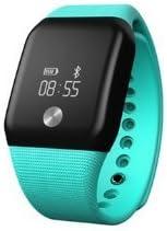Ace MK88 Heart Rate Monitor With Oxygen Sport Wristband Men Women Smart Tracker Monitor Watch (CYAN)
