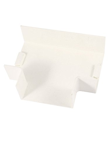 dealmux-80mm-x-40mm-3-ways-white-pvc-flat-tee-trunking-adapter-raceway-fitting