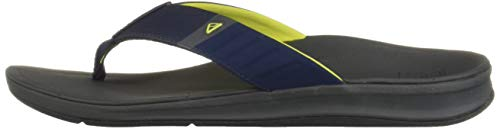 Reef Men's Ortho-Bounce Sport Sandal, Navy/Yellow, 070 M US by Reef (Image #5)