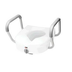 RMB30400 - Carex Health Brands E-Z Lock Raised Toilet Seat with Armrests 5