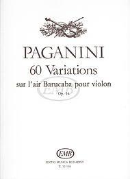 Variations Sur Un Air - 60 Variations sur l'air Barucaba, Op. 14 (Devich)