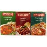 Everest Spices Variety Pack-Sambhar Masala/Chhole Masala/Pav Bhaji Masala-100g