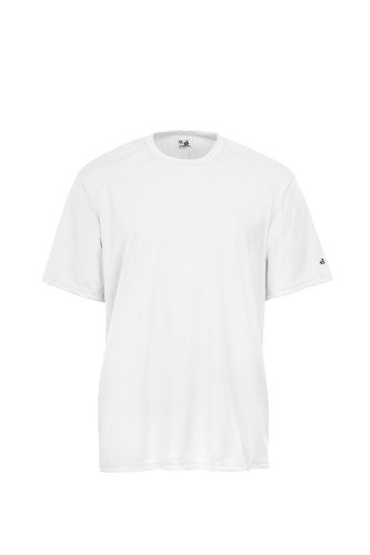 Badger Sportswear Men's B-Dry Tee, White, Large