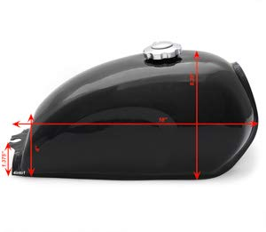 The Skyline Cafe Racer Motorcycle Gas//Fuel Tank 2.4 Gallon 9L Black