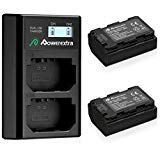 Powerextra 2 Pack Replacement Sony NP-FZ100 Battery 2500mAh and Smart Dual Charger LCD Display for Sony Alpha 9, A9, Alpha 9R, A9R, Alpha 9S, A7RIII, A7R3 Camera (Not for Sony A7 III)