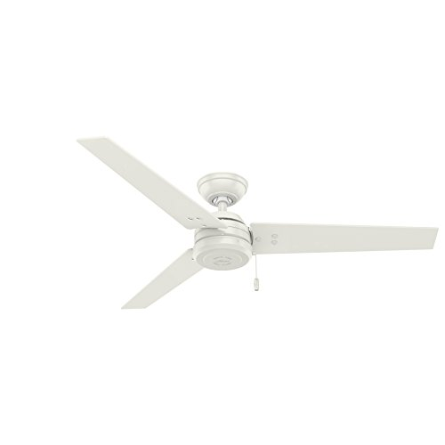 - Hunter Fan Company 59263 Cassius Fresh White Ceiling Fan, 52